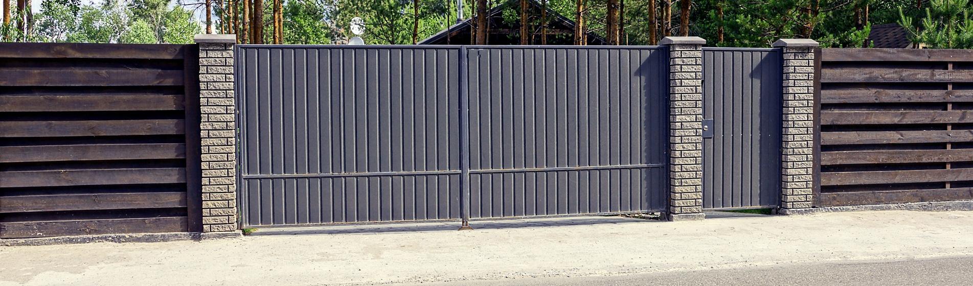 rénovation portail coulissant avec portillon 30 Gard
