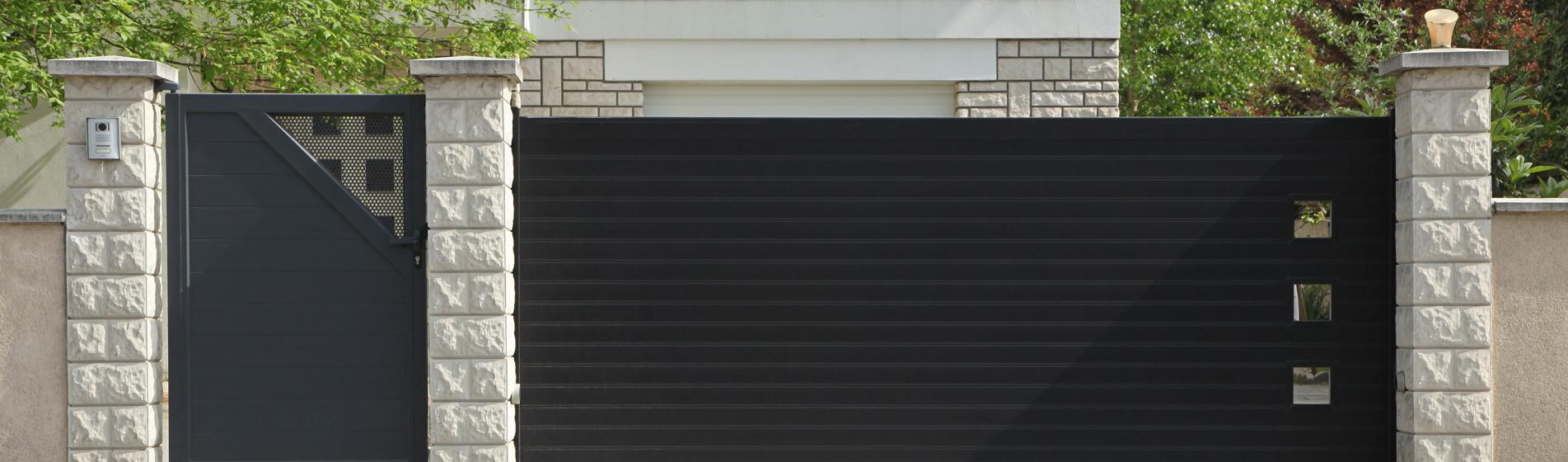 portail coulissant avec portillon 84 Vaucluse