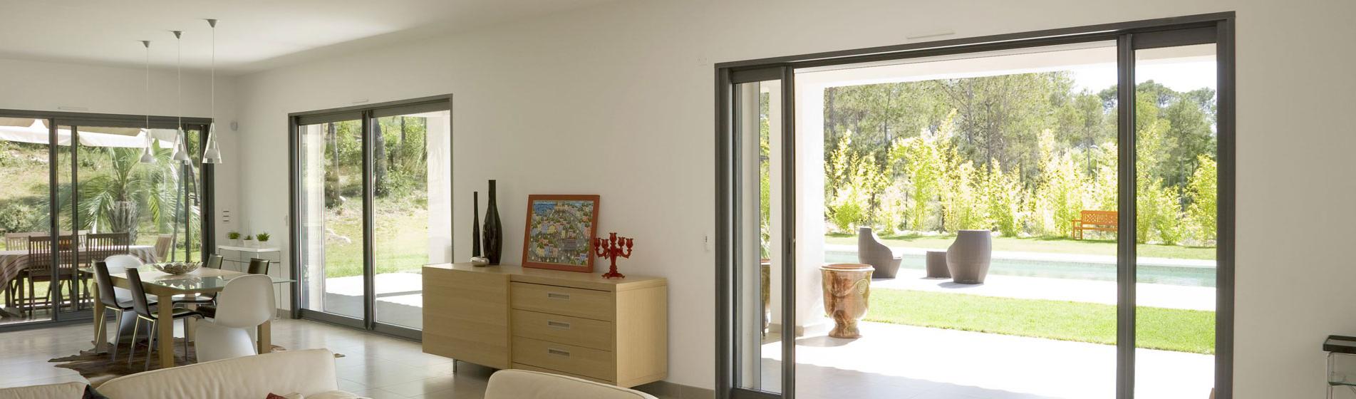 baie vitree coulissante sur-mesure 13 Bouches-du-Rhône