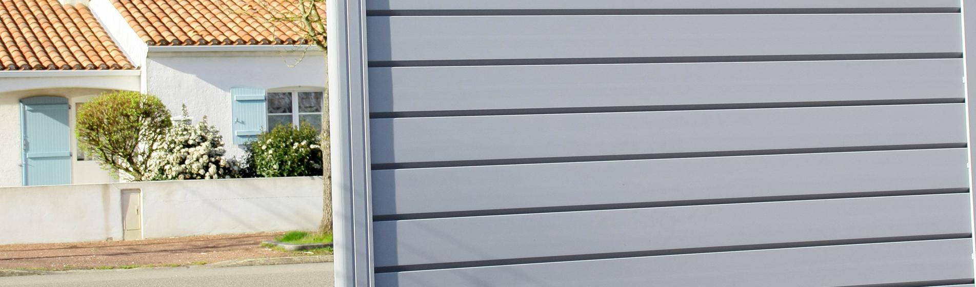 achat portail coulissant avec portillon 30 Gard