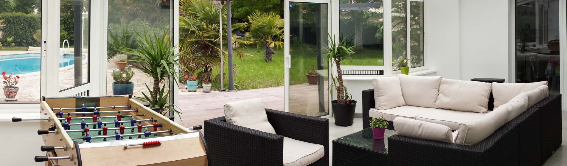 achat véranda toiture plate 30 Gard